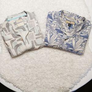 Tommy Bahama 100% Silk Shirts 2 for 1 SZ Large